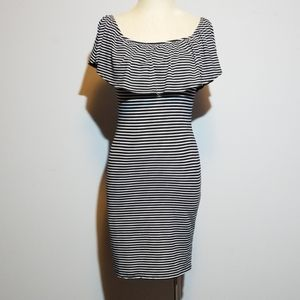 Charlotte Russe stripped dress with ruffle neck